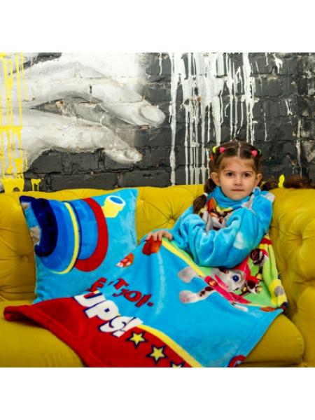 Рукоплед Плед с рукавами из микрофибры с рисунками детский 125х80 Щенячий патруль голубой SKL20-277455