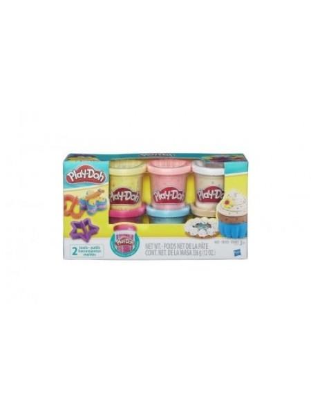 Набор для лепки Hasbro Play-Doh Игровой набор из 6 баночек с конфетти SKL65-283086