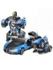 Машинка Трансформер Bugatti Size 18 см Robot Car Синяя SKL11-261315
