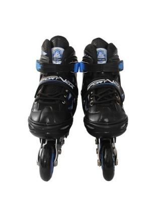 Роликовые коньки SportVida 4 в 1 SV-LG0030 Size 39-42 Black-Blue SKL41-227434