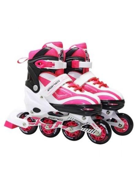Роликовые коньки SportVida Size 39-42 White/Pink SKL41-239342