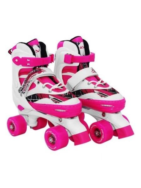 Роликовые коньки квады SportVida Size 31-34 White/Pink SKL41-277906