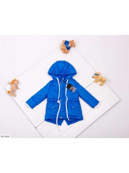 Детская демисезонная парка синяя SKL11-283288