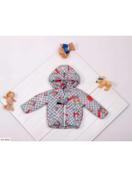 Детская Деми куртка серая с котиками SKL11-283294