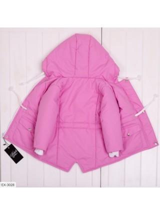 Детская демисезонная парка темно-розовая SKL11-283286