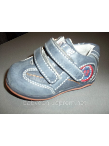 Туфли на липучках 18,19,20 кожа