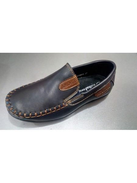 Школьные туфли-мокасины для мальчика ортопедические