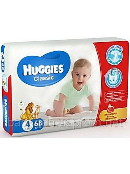 Подгузники Huggies Classic 4 7-18 кг, 68 шт