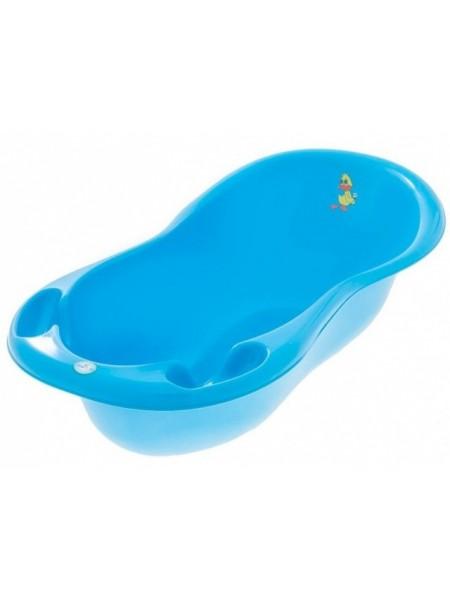 Ванночка детская со сливом голубая