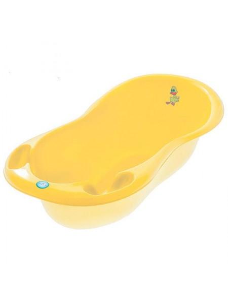 Ванночка детская со сливом желтая