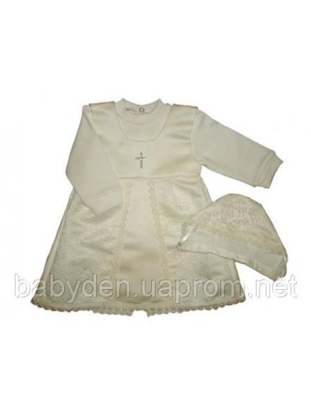 Платье для крещения, первого причастия с шапочкой