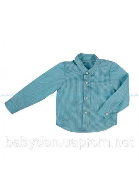 Ментоловая рубашка в полоску