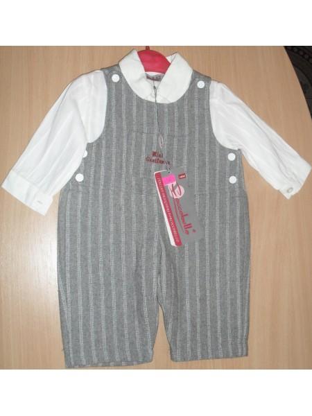 Костюмчик для мальчика комбинезон и рубашечка