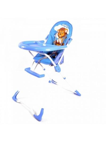 Стульчик для кормления пластик, голубой