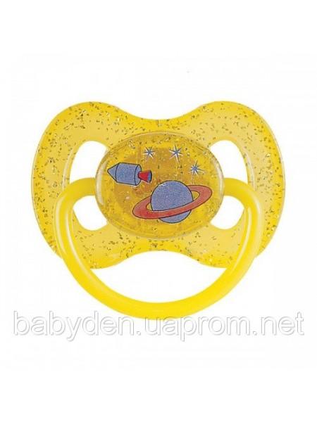 Пустышка силиконовая круглая 0-6 месяцев