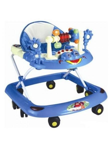 Ходунки детские музыкальная игровая панель, голубые