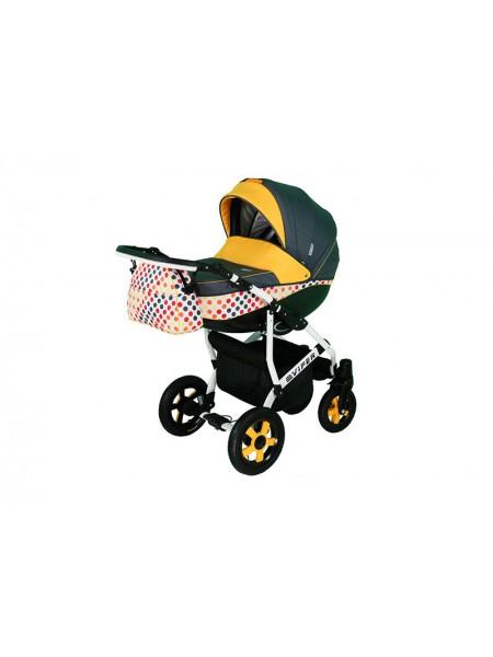 Детская коляска VIPER DISCOVERY, 2 в 1 желтая в горошек