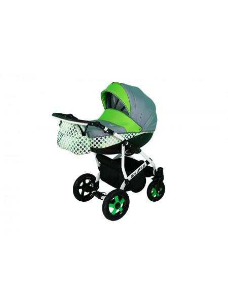 Детская коляска VIPER DISKOVERY, 2 в 1 салатовая в горошек
