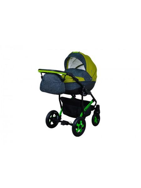 Детская коляска VIPER SAFARI VS-60, 2 в 1 зеленый с серым