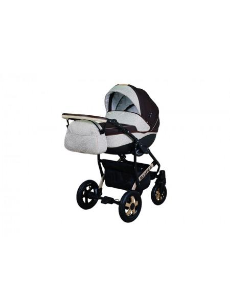 Детская коляска VIPER SAFARI VS-53, 2 в 1 коричневый с золотистым