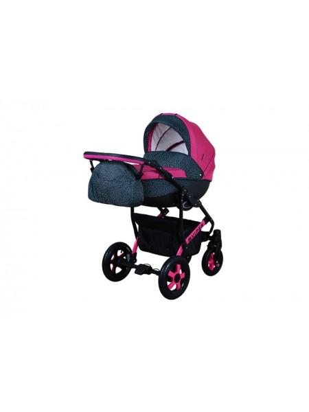 Детская коляска VIPER SAFARI VS-58, 2 в 1 малиновый с серым