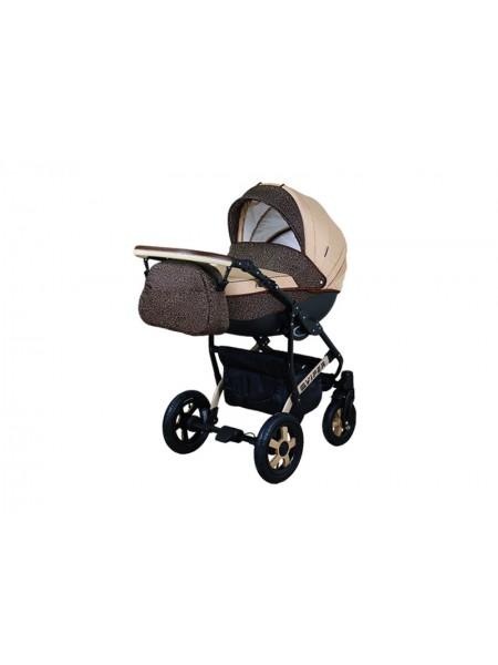Детская коляска VIPER SAFARI VS-50, 2 в 1 коричневый с бежевым