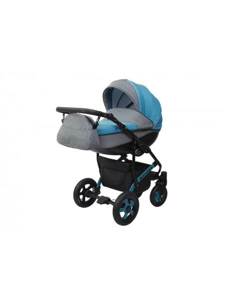 Детская коляска VIPER COUNTRY VC-94, 2 в 1 голубая