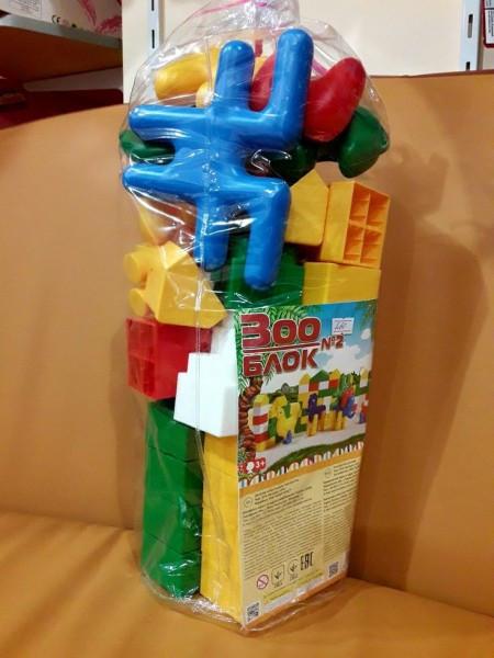Конструктор блочный пластмассовый Зоо Блок 35 деталей
