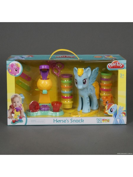 "Набор для творчества. Тесто для лепки ""Мой маленький Пони"" 12 цветов"