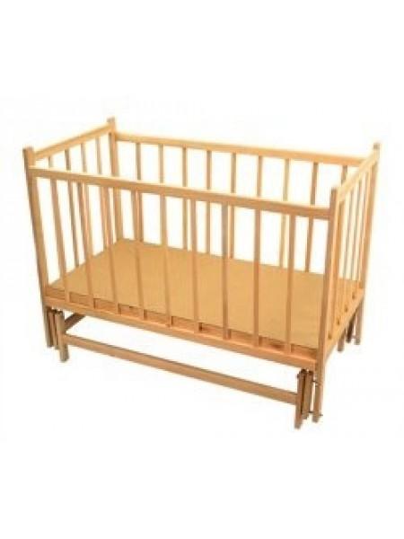 Детская кроватка с маятником светлая ольха