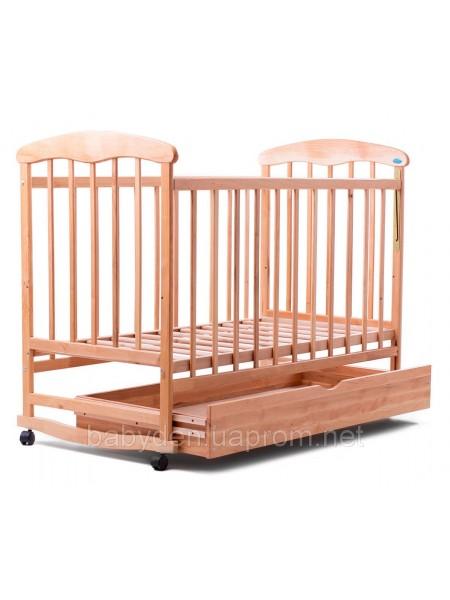 Детская кроватка с ящиком (ольха) светлая
