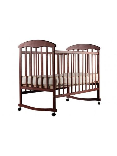 Детская кроватка темная ольха
