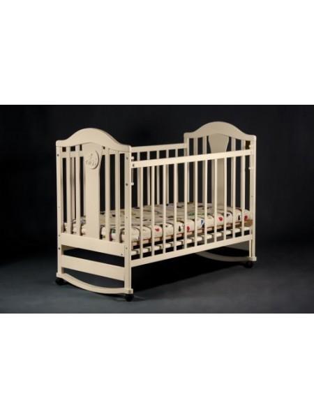 Детская кроватка ольха, полозья, цвет ваниль