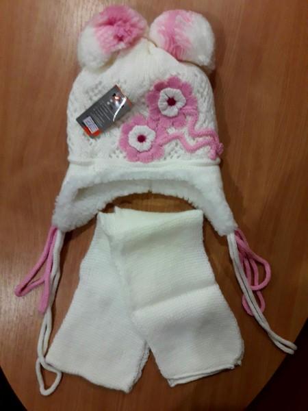 Детская зимняя шапочка для девочки