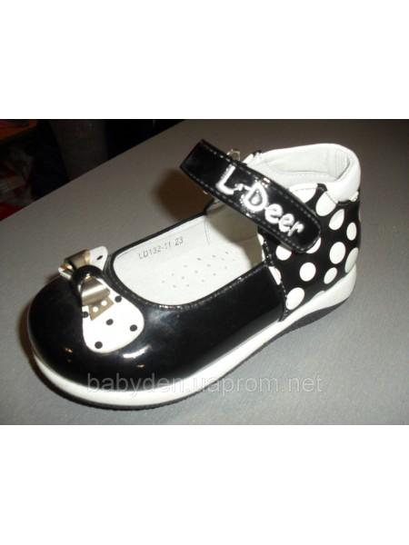 Туфли для девочки Горошек