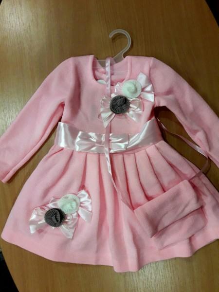 Платье с сумочкой для девочки Ванесса розовое 110