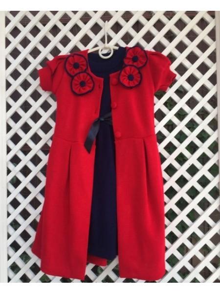 Платье с кардиганом теплое
