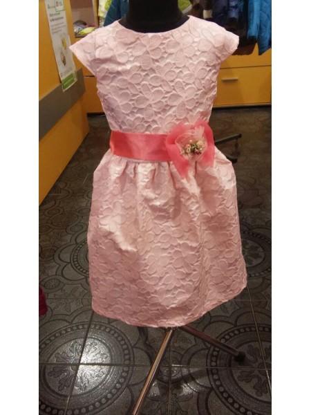 Платье для девочки с бантом, персик