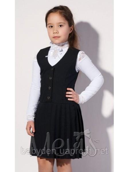 Сарафан школьный черного цвета