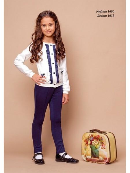 Школьные брюки - лосины для девочек