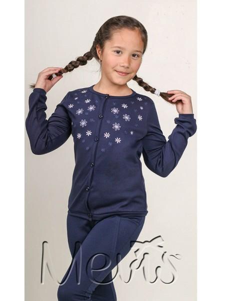 Школьная кофта для девочки, синий