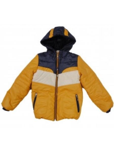 Куртка для мальчика желтая с синим