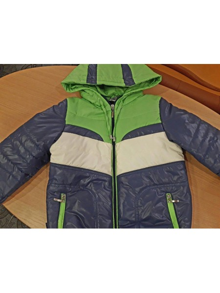 Куртка для мальчика синяя с зеленым