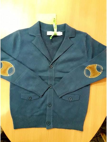 Джемпер на пуговицах для мальчика, синий