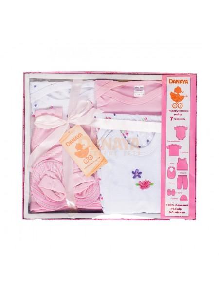 Набор подарочный (7 предметов) Розовый / 62987