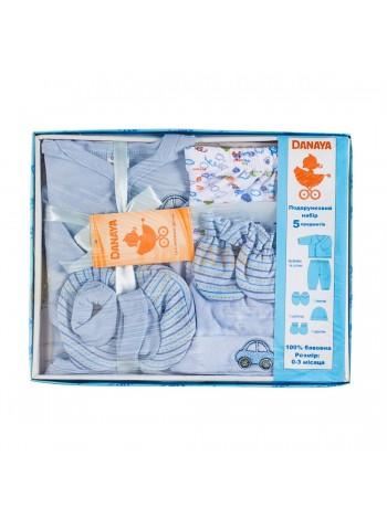 Набор подарочный (5 предметов) голубой / 62993