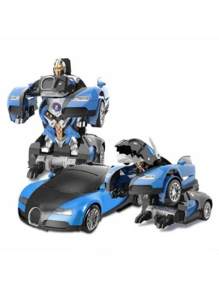 Машинка Трансформер Bugatti Robot Car Size 118 Синяя SKL11-279519