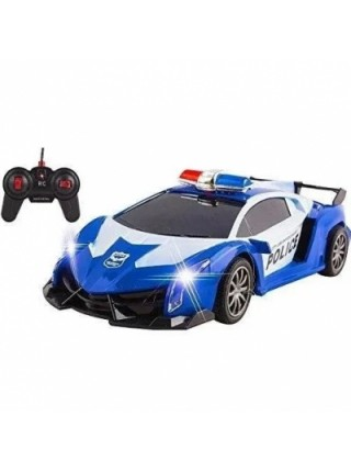 Машинка Трансформер Lamborghini Police Robot Car Size 18 Синяя SKL11-276019